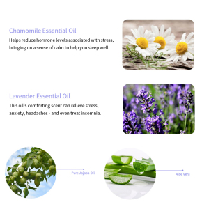 health care relieve stress jojoba aloe vera chamomile lavender body spray essential oil