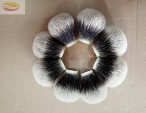 High Mountain White Two Band Badger Hair Knot Manchurian Badger Hair Shaving Brush Knot