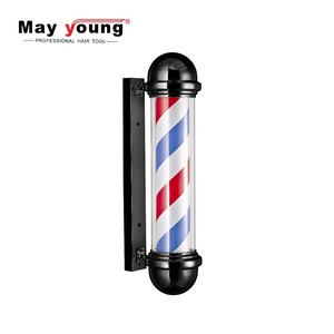 M317 Other type hair salon equipment Factory sell LED lamps Barber shop pole