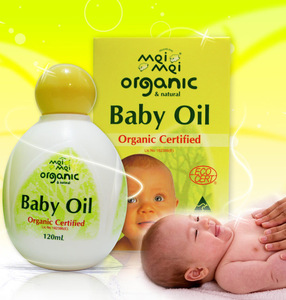 Mei Mei Organic Certified Baby Oil 120ml - perfect for babys delicate skin - Made in Australia - Protect from chafing