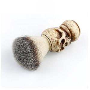 New Badger Hair Shaving Brush Skull Handle Beard Brush Skin-friendly Comfort Salon Facial Beard Cleaning Brush for men
