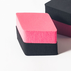 NEWPEPTIN 4pieces/bag black and roseo red rhombus cosmetic sponge powder puff