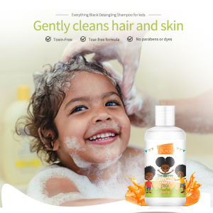 Prviate Label Kids Natural Curly Hair Shampoo Body Wash 2 In 1 Without Alcohol And Crutly Free