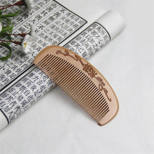 QS brand classic wholesale  handmade private label wooden beard comb custom beard comb wooden hair comb
