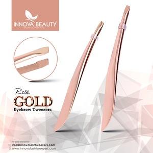 Rose Gold Plasma Plated Eyebrow Tweezers/ Rose Gold Manicure Eyebrow Tweezers/ Best Eyebrow Tweezers