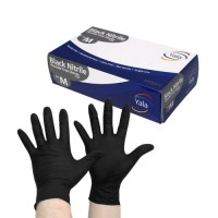Yala Powder Free Black Nitrile Gloves, 1 x 100 Wholesales