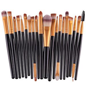 20pcs Amazon your own brand organic oem novelty personalized foundation kabuki make-up cosmetic set make up makeup brush