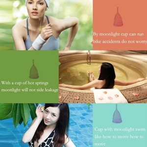 China Reusable Medical Silicone Menstrual Cup For Feminine Hygiene