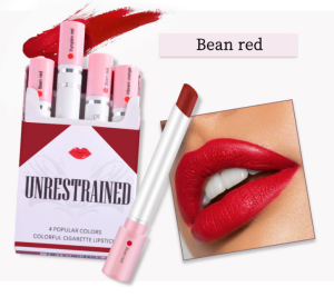 Creative Cigarette Lipstick Set 4 Colors Matte Long Lasting Waterproof Matt Lip Stick Tube Nude Red Lips Makeup