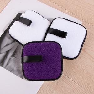 Custom Logo 10CM Cosmetic Facial Cotton Pads Fleece Reusable Makeup Remover Pads