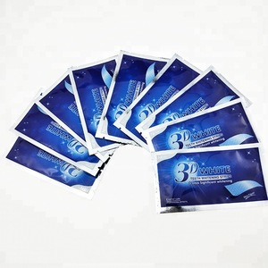 Dental Bleaching 3D White Teeth Whitening Strips Gel  No Activated Charcoal Private Label Care Oral Hygiene