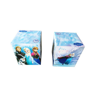 Eco-Friendly Disposable Soft Tissue Paper Box Package Facial Tissue Paper
