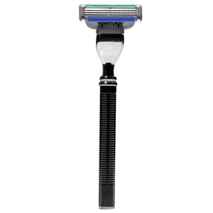 Factory Direct Sales Mens Shaving Razor Blade With Long Textured Handle