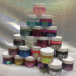 Festival Cosmetic Chunky Glitter Flakes Gel holographic Face & Body Peel off Chunky Glitter with glue
