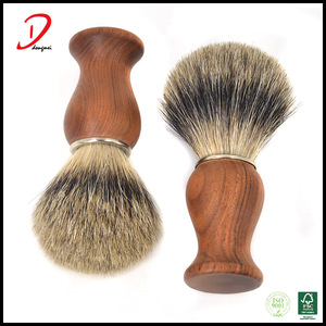 High end rose wooden handle badger hair Shaving brush with engrave label