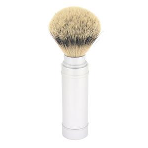 High quality Metal Aluminum Travel Silvertip Badger Hair Men Wet Shaving Beard Brush