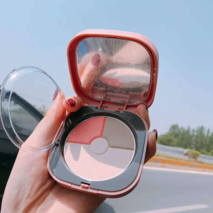 Nordic Setting Powder 3 In 1 Mineral Blush Makeup Palette Face Cheek Blusher Shading Powder Contour Natural Pink Cosmetic
