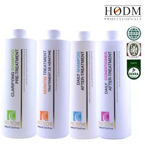 PRO-TECHS Innovative Brazilian Hair Organic Keratin Smoothing System Naturals Organic Hydrolyzed Keratin for Hair Treatment