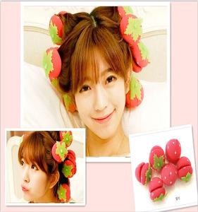 Strawberry shape sponge magic hair styling roller curler