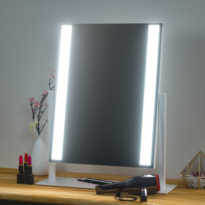 2020 NEWEST Makeup Vanity Mirror Tabletops Lighted Cosmetic Mirror with Dimmable Touch Screen Mirror