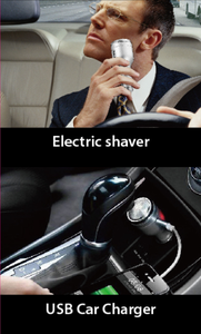 3 in 1 Mini Shaver With USB Car Charger Safety Hammer