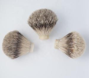Custom Size Wholesale Silvertip Badger Hair Shaving Brush Knot