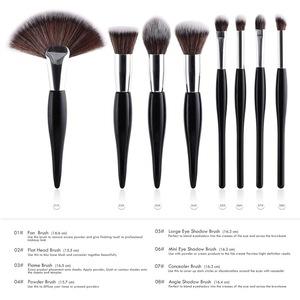 Customized 10pcs black Matt Makeup Brush Set With High Quality