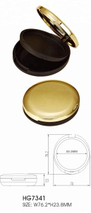 Factory direct sale best makeup gold plastic cosmetic packaging powder case