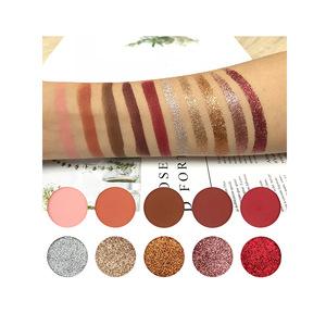 New High Quality custom logo diy color glitter eyeshadow makeup palette