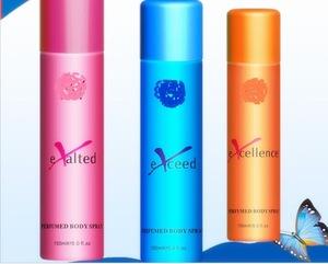 perfumed female Deodorant Body spray mist
