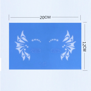 PET reusable makeup stencil for airbrush tattoo and face paint