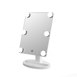 Square mirror 360 degree rotation plastic cosmetic makeup vanity hollywood mirrors with lights