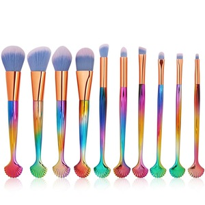 The new 10Pcs cosmetic brush package of 2019 is a specialty powder sole powder eye brushed bristle rose handle cosmetic tool