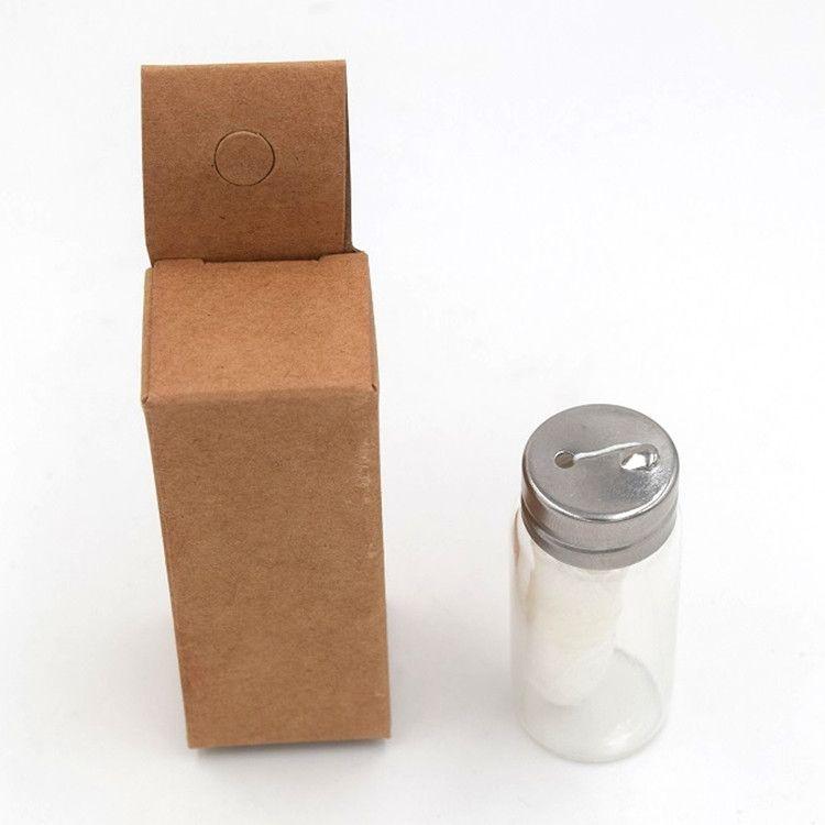 free of plastic eco friendly biodegradable dental floss PLA 30M glass bottle dispenser
