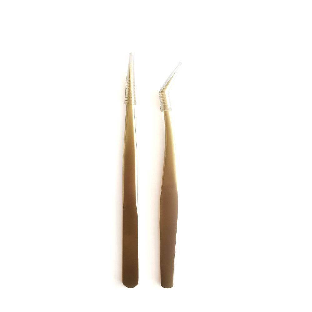 Tweezers for eyelash extensions & individual eyelashes