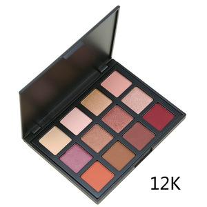 12 Color Pigmented Custom Eye shadow Palette Long Lasting Waterproof Private Label Eyeshadow Palette Makeup