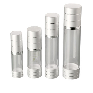 15ml 30ml 50ml 100ml matte silver aluminum airless pump bottle airless spray bottle