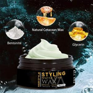 2020 new arrival 3.5 oz natural pliable greasy matte clays hair styling wax colour men