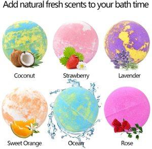 2020 new arrival OEM ODM long time fizzes cleansing bath bombs gift set organic rainbow bath bomb