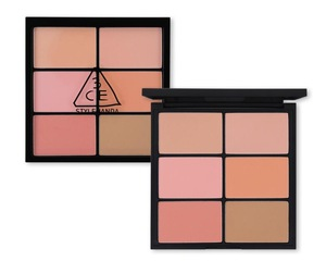 3CE PRO MULTI BLUSH COLOR PALETTE #SOFTENER Face Make Up Cosmetics Blusher 6 Color Makeup Blush Palette