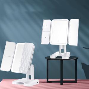68 LED Makeup Mirror Hot Tir-fold vanity mirror Led cosmetic mirror