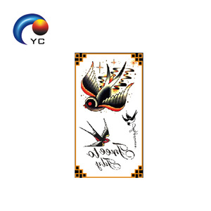 Classic Black Bird Temporary Tattoo Sticker Body Painting Girls Party Supply