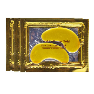 Private Label Skin Care Anti-aging Hyaluronic acid 24K Gold Collagen Crystal Powder Hydrogel Rose Under Eye Mask