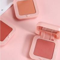 1pcs Matte peach blush highlight repair easy to color waterproof lasting brighten natural skin tone facial makeup blush palette