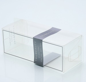 Colored Package Box Cosmetic Puff PET PVC Box Clear Folding Plastic Boxes for Makeup Brushes Power Puff set