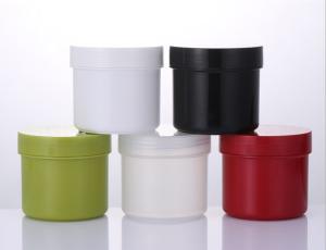 colorful empty plastic cosmetic skin care cream jar 150ml 250ml