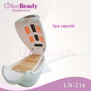 Far Infrared Sauna Spa Capsule / LED Light Therapy Bed For dry Steam