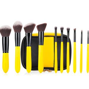 makeup brushes flat foundation blush eyeliner eyeshadow