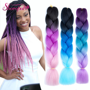 Ombre Color Jumbo Synthetic Braiding Hair