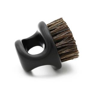 Ring Design Horse Bristle Men Shaving Brush Plastic Portable Barber Beard Brushes Salon Face Cleaning Razor Brush